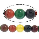 Rainbow Natyrore Beads agat, Rainbow agat, Round, asnjë, asnjë, 16mm, : 1.5mm, : 14.5Inç, 5Fillesat/Shumë,  Shumë