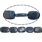 Regenbogen Venen Perlen, bunte Venen Stein, Rechteck, natürlich, blau, 12.5-15x17.5-20x5-5.5mm, Bohrung:ca. 0.8-2mm, ca. 22PCs/Strang, verkauft per ca. 16 ZollInch Strang
