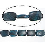 Regenbogen Venen Perlen, bunte Venen Stein, Rechteck, natürlich, 14-15x18-21x5-6mm, Bohrung:ca. 1-1.2mm, ca. 20PCs/Strang, verkauft per ca. 16 ZollInch Strang
