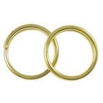 Unaza Hekuri Split, Petull e ëmbël në formë gjevreku, ngjyrë ari praruar, asnjë, , nikel çojë \x26amp; kadmium falas, 8x1.50mm, : 7mm, 8620PC/Qese,  Qese