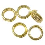 Unaza Hekuri Split, Petull e ëmbël në formë gjevreku, ngjyrë ari praruar, asnjë, , nikel çojë \x26amp; kadmium falas, 4x1mm, : 3mm, 21275PC/Qese,  Qese
