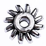 Beads Alloy zink Lule, Ngjyra antike argjendi praruar, asnjë, , nikel çojë \x26amp; kadmium falas, 12.50x6mm, : 2.7mm, 525PC/Qese,  Qese