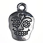 Pendants Skull Alloy zink, Djalë, Ngjyra antike argjendi praruar, Antique imitim, asnjë, , nikel çojë \x26amp; kadmium falas, 18.50x12x3mm, : 2mm, 275PC/Qese,  Qese