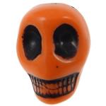 Antike Acrylperlen, Acryl, Schädel, opark, antik imitieren, orange, 12.50x10x12mm, Bohrung:ca. 2mm, 595PCs/Tasche, verkauft von Tasche