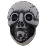 Antique Beads akrilik, Kafkë, i errët, Antique imitim, e bardhë, 19x14x11mm, : 2.5mm, 330PC/Qese,  Qese