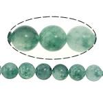 Marmor Naturperlen, gefärbter Marmor, rund, grün, 8mm, Bohrung:ca. 1mm, Länge:ca. 15 ZollInch, 5SträngeStrang/Menge, verkauft von Menge