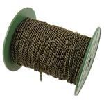 Twist Hekuri Oval Zinxhiri, Ngjyra antike bronz i praruar, asnjë, , nikel çojë \x26amp; kadmium falas, 3.70x5x0.90mm, :50m,  PC