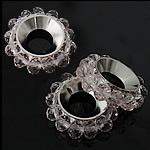 Beads Spacer Crystal, Kristal, Lule, Lt Peach, 17mm, 4x3mm, : 6.5mm, 100PC/Qese,  Qese