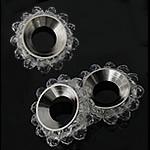 Beads Spacer Crystal, Kristal, Lule, Kristal, 17mm, 4x3mm, : 6.5mm, 100PC/Qese,  Qese