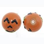 Weihnachten Lampwork Perlen, rund, 14.50x13.50mm, Bohrung:ca. 1.8mm, verkauft von PC