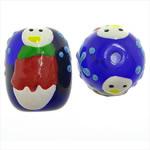 Weihnachten Lampwork Perlen, Trommel, 14x17.50mm, Bohrung:ca. 2mm, verkauft von PC