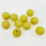 Beads druri, Round, i lyer, i verdhë, 14x15mm, : 4mm, 415PC/Qese,  Qese