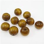 Beads druri, Round, i lyer, ngjyrë kafe, 18mm, : 4.5mm, 310PC/Qese,  Qese