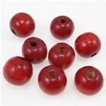 Beads druri, Round, i lyer, i kuq, 20mm, : 4.5mm, 100PC/Qese,  Qese