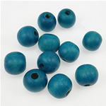 Beads druri, Round, i lyer, acid blu, 11x12mm, : 3.5mm, 710PC/Qese,  Qese