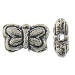 Beads Alloy zink Kafshëve, Ngjyra antike argjendi praruar, asnjë, , nikel çojë \x26amp; kadmium falas, 9x5.80x3.50mm, : 1mm, 1538PC/KG,  KG