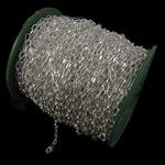 Zinxhiri Iron Oval, Hekur, Ngjyra argjend praruar, asnjë, , nikel çojë \x26amp; kadmium falas, 4.40x7.60x1.20mm, :50m,  PC