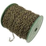 Zinxhiri Iron Oval, Hekur, Ngjyra antike bronz i praruar, asnjë, , nikel çojë \x26amp; kadmium falas, 4.40x7.60x1.20mm, :50m,  PC