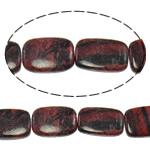 Regenbogen Venen Perlen, bunte Venen Stein, Rechteck, natürlich, 18x28x6.50mm, Bohrung:ca. 1.5mm, ca. 14PCs/Strang, verkauft per ca. 15.5 ZollInch Strang