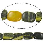Regenbogen Venen Perlen, bunte Venen Stein, Rechteck, natürlich, 15x21x6mm, Bohrung:ca. 1.5mm, ca. 19PCs/Strang, verkauft per ca. 15 ZollInch Strang