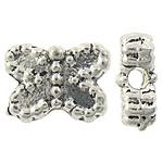 Beads Alloy zink Kafshëve, Ngjyra antike argjendi praruar, asnjë, , nikel çojë \x26amp; kadmium falas, 7.30x5.50x3mm, : 1mm, 2325PC/KG,  KG