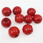 Beads druri, Round, i lyer, i kuq, 11x12mm, : 3.5mm, 1515PC/Qese,  Qese