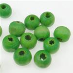 Beads druri, Round, i lyer, e gjelbër, 7x8mm, : 3mm, 2270PC/Qese,  Qese
