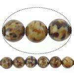 Lule natyrale Beads Ice agat, Ice Flower agat, Round, 20mm, : 1.5mm, : 15.5Inç, 19PC/Fije floku,  15.5Inç,