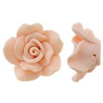 Beads polimer balta, Polymer Clay, Lule, asnjë, rozë, 29x12mm, : 1mm, 100PC/Qese,  Qese