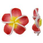 Polymer Ton Anhänger, Blume, keine, 25x25x7mm, Bohrung:ca. 1.5mm, 100PCs/Tasche, verkauft von Tasche