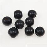 Beads druri, Numërator, i lyer, e zezë, 11x12mm, : 3.5mm, 745PC/Qese,  Qese