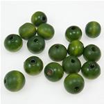 Beads druri, Round, i lyer, e gjelbër, 11x12mm, : 3.5mm, 710PC/Qese,  Qese