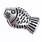 Beads Alloy zink Kafshëve, Peshk, Ngjyra antike argjendi praruar, asnjë, , nikel çojë \x26amp; kadmium falas, 8.50x5x3.30mm, : 1mm, 2000PC/Qese,  Qese