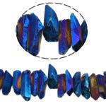 Natürliche Beschichtung Quarz Perlen, Klumpen, bunte Farbe plattiert, 10-50mm, Bohrung:ca. 1.2-1.5mm, Länge:15.5 ZollInch, 20SträngeStrang/Menge, verkauft von Menge