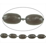 Natyrore Gri Beads agat, Grey agat, Oval, asnjë, asnjë, 28x16mm, : 2.5mm, : 16Inç, 3Fillesat/Shumë,  Shumë