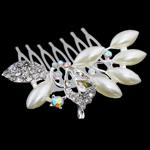 Combs dekorative Flokët, Alloy zink, me diamant i rremë, , nikel çojë \x26amp; kadmium falas, 60x56.50x28mm, 12PC/Qese,  Qese