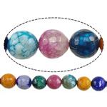Natyrore kërcitje Beads Zjarri agat, YouTube Fire agat, Round, natyror, 8mm, : 1mm, : 15Inç, 20Fillesat/Shumë,  Shumë