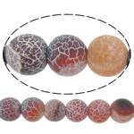 Natürliche Effloresce Achat Perlen, Auswitterung Achat, rund, rot, 14mm, Bohrung:ca. 1.5mm, Länge:ca. 15 ZollInch, 5SträngeStrang/Menge, verkauft von Menge