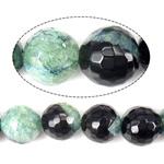 Beads Natyrore kuarc Ice agat, Ice kuarc agat, Round, asnjë, faceted, 16mm, : 1.2mm, : 15Inç, 3Fillesat/Shumë,  Shumë