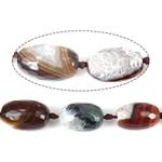 Beads Natyrore kuarc Ice agat, Ice kuarc agat, Daulle, 27x18mm, : 2mm, : 16Inç, 3Fillesat/Shumë,  Shumë