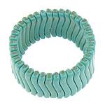 Fashion Bracelets Turquoise, Bruz Natyrore, i lyer, blu, 5x32x6.80mm, : 8Inç, 30Fillesat/Shumë,  Shumë