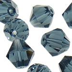 Swarovski Crystal Beads, Bicone, Montana, 6mm, : 1mm, 50PC/Qese,  Qese