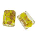 Goldsand Lampwork Perlen, Rechteck, 20x15x12mm, Bohrung:ca. 1-2mm, 100PCs/Tasche, verkauft von Tasche