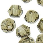 Swarovski Crystal Beads, Bicone, Greige, 4mm, : 1mm, 50PC/Qese,  Qese