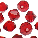 Swarovski Crystal Beads, Bicone, Siam, 4mm, : 1mm, 50PC/Qese,  Qese