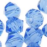 Swarovski Crystal Beads, Bicone, Lt Sapphire, 4mm, : 1mm, 50PC/Qese,  Qese