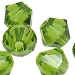 Swarovski Crystal Beads, Bicone, Olivine, 4mm, : 1mm, 50PC/Qese,  Qese