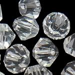 Swarovski Crystal Beads, Bicone, Kristal, 4mm, : 1mm, 50PC/Qese,  Qese
