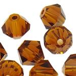Swarovski Crystal Beads, Bicone, Topaz tymosur, 3mm, : 1mm, 50PC/Qese,  Qese