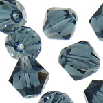 Swarovski Crystal Beads, Bicone, Montana, 3mm, : 1mm, 50PC/Qese,  Qese